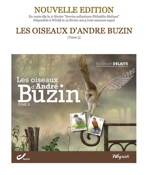 Livre Andre buzin autrement - Timbres Andre Buzin 2014